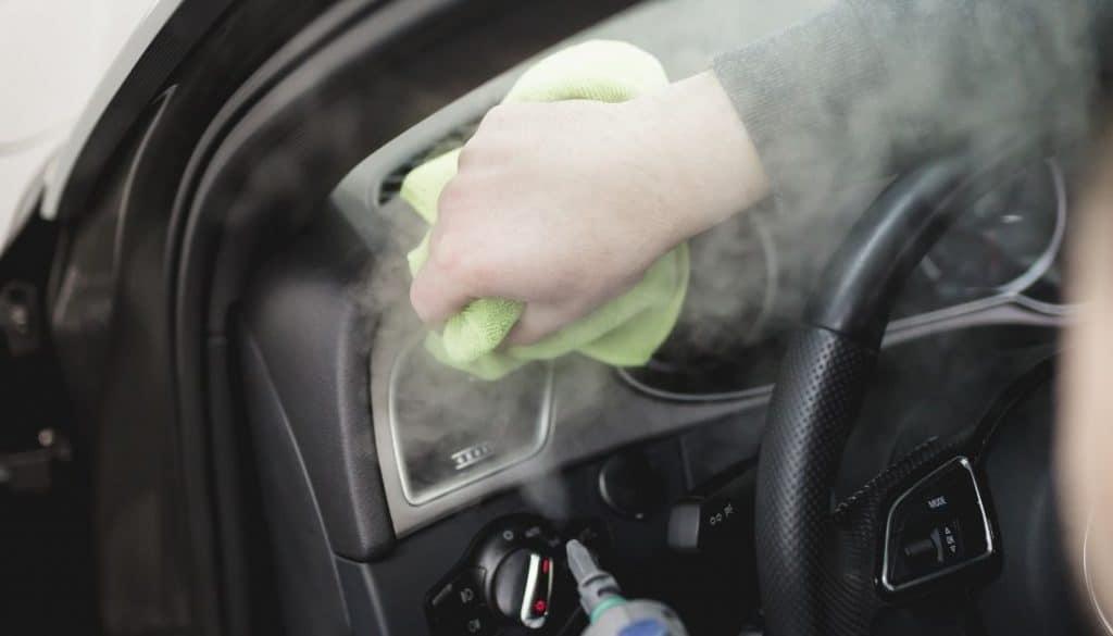 Steam clean your car