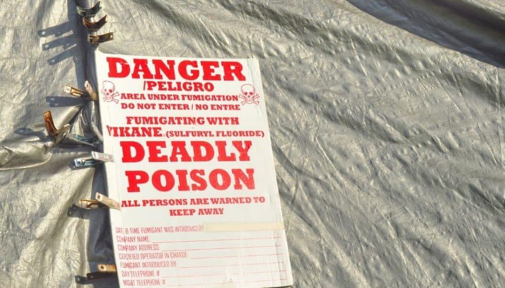 Notice Put By Termite Fumigator
