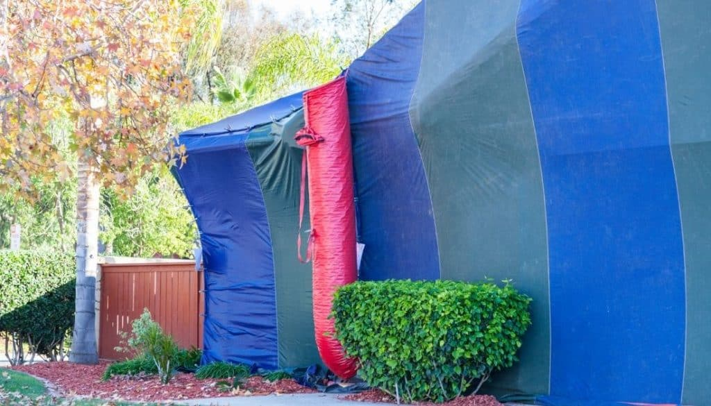 Termite Tent Gassing The Home